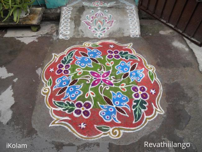 Rangoli: KOLAM - butterflies
