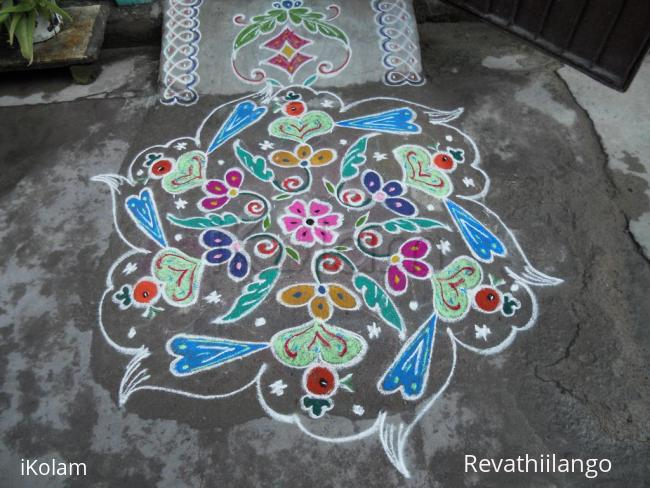 Rangoli: valentine