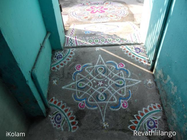 Rangoli: A small entrance kolam.