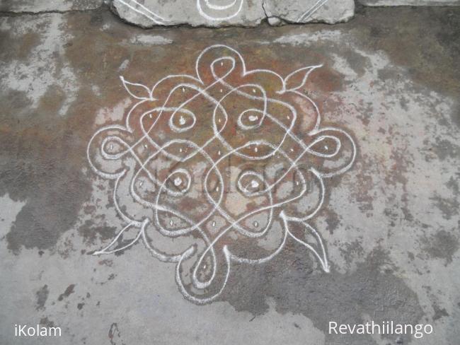 Rangoli: Rev's daily chikku kolam.