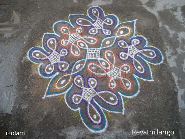 Rangoli: Rev's new chikku creation.