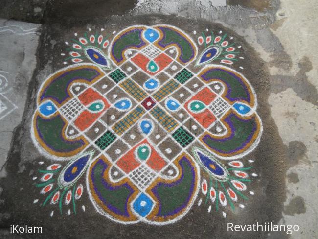 Rangoli: Rev's on the spot chikku kolam.