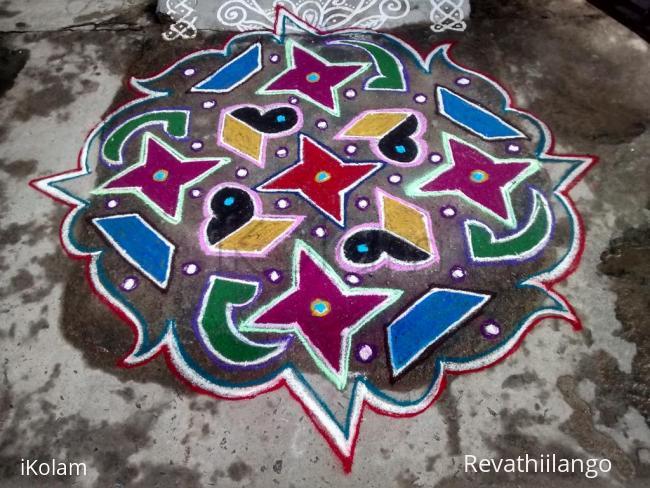 Rangoli: Rev's margazhi creation 10.