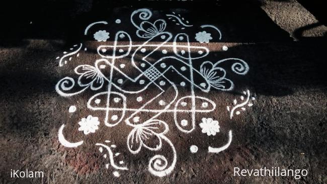 Rangoli: Rev's chikku kolam 36.