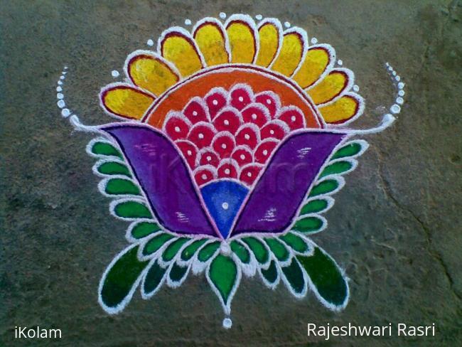 Rangoli: Simple Fancy Flower Rangoli