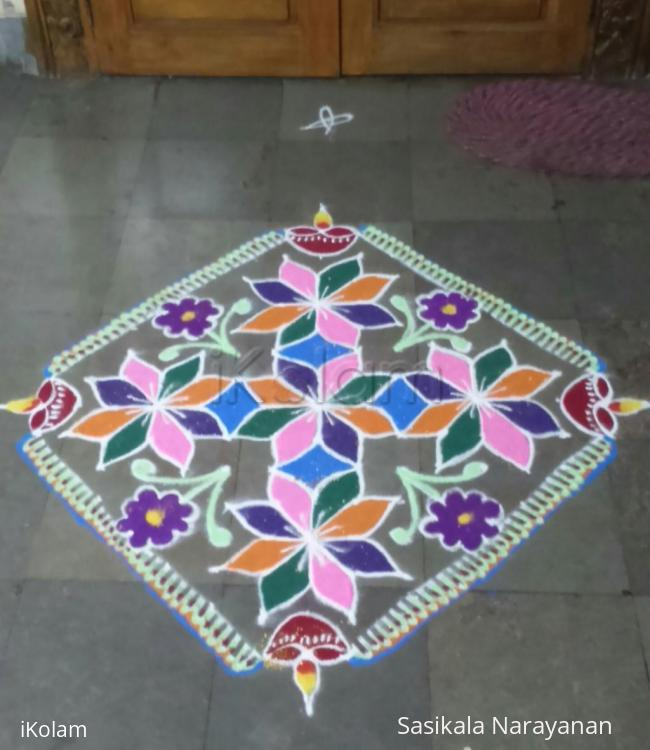 Rangoli: Tamil new-year rangoli