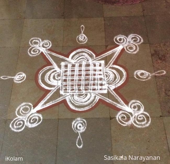 Rangoli: Shivarathri kolam