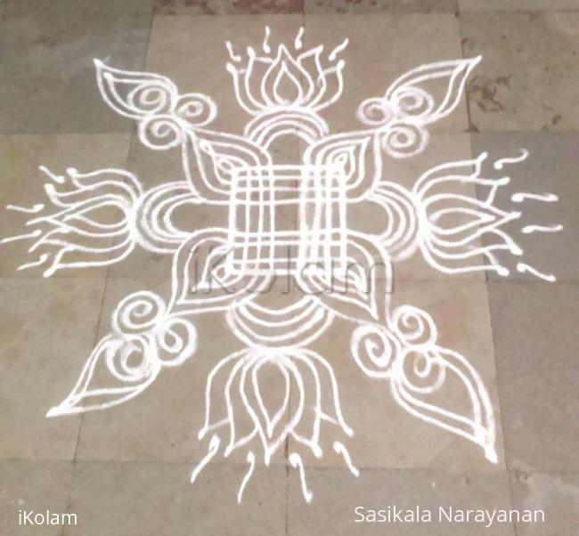 Rangoli: simple festival kolam