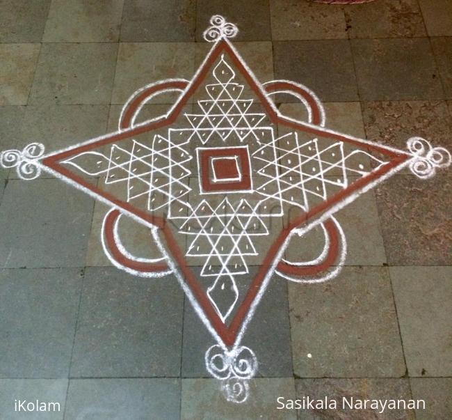 Rangoli: Sivarathri kolam