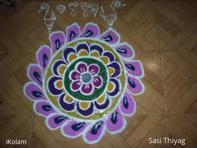 Rangoli: flower plate