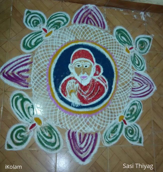 Rangoli: Sai baba rangoli