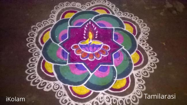 Rangoli: colourful deepam