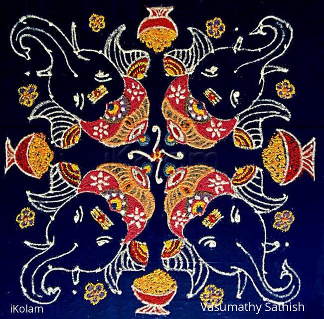 Rangoli: Happy Vinayagar Chaturthi