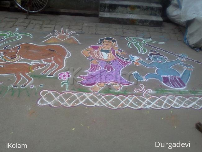 Rangoli: dd mattu pongal kolam collection