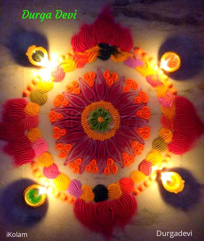 Rangoli: Karthigai Deepam special kolam 3