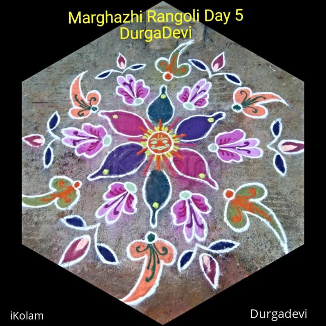 Rangoli: Marghazhi kolam day 5