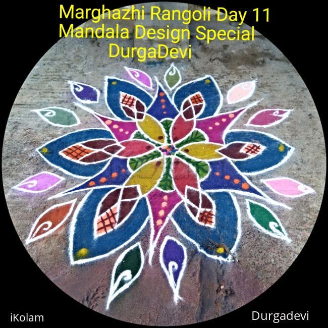 Rangoli: Marghazhi kolam day 11 Mandala Design