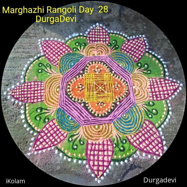 Rangoli: Marghazhi kolam day 28
