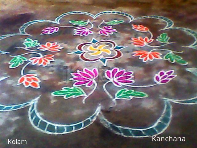 Rangoli: rangoli on kaanum pongal 2014