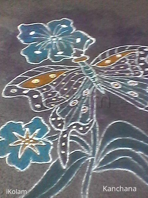 Rangoli: Margazhi 2016 -Butterfly & flower