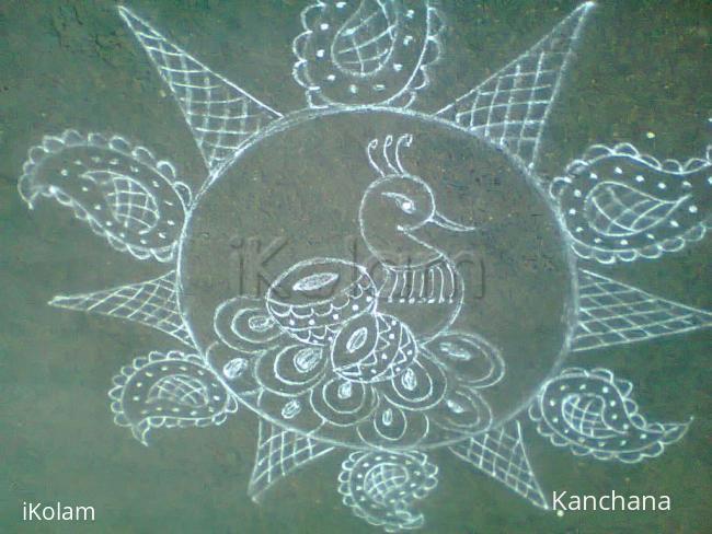Rangoli: welcome aadi