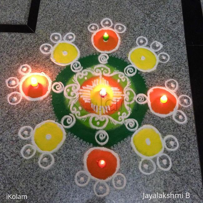 Rangoli: Happy diwali