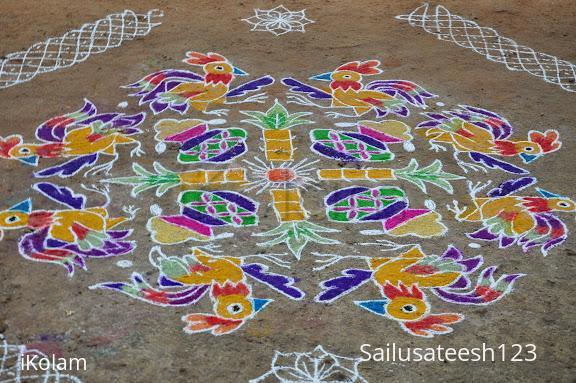Rangoli: One of my pongal kolam