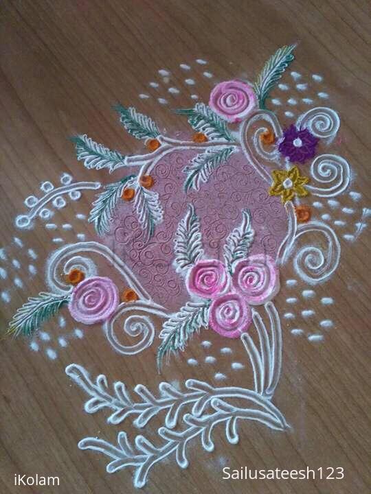Rangoli: roses rangoli