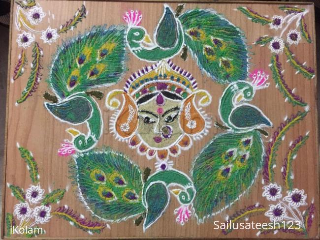 Rangoli: Navratri day 7.....