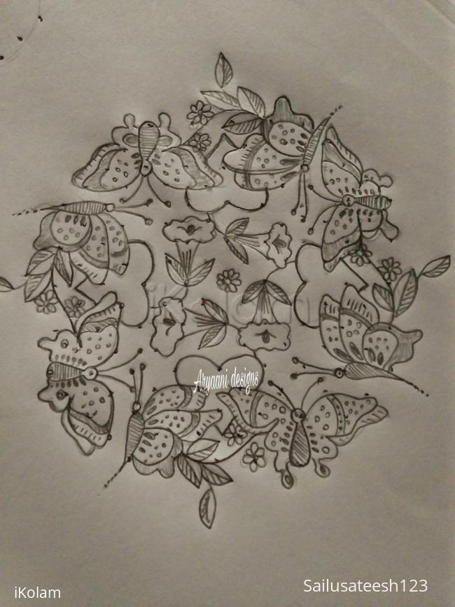Rangoli: Butterflies....