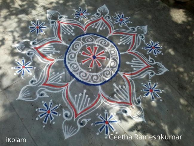 Rangoli: Peacock Rangoli!