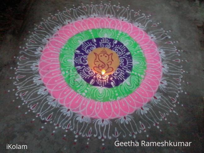 Rangoli: Ganesh rangoli!