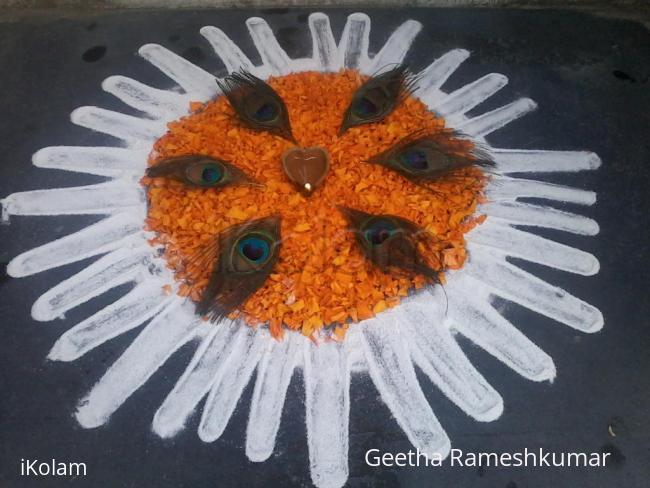 Rangoli: Krishna Jayanthi  kutti kolam!