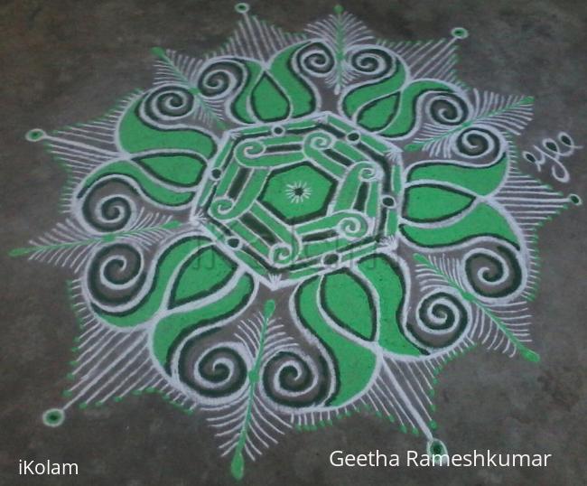 Rangoli: Navarathri Special! Day-4 Green!!