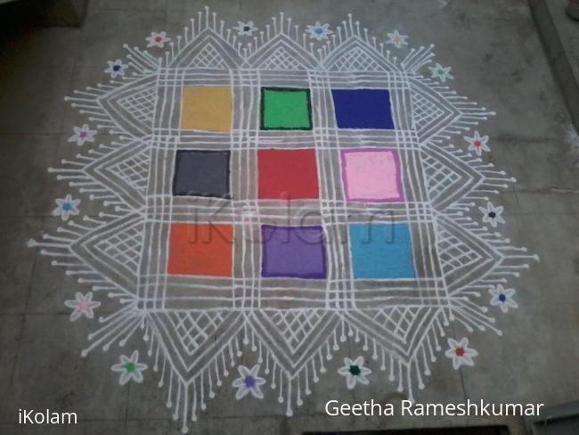 Rangoli: Navarathri kolam!