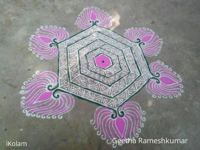 Rangoli: Lotus kolam!