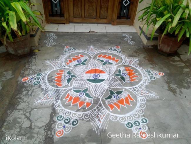 Rangoli: Independence day kolam!