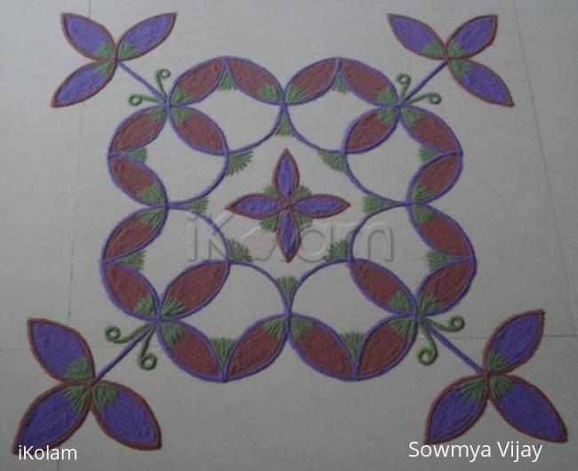Rangoli: Dotted Kolam in Colours
