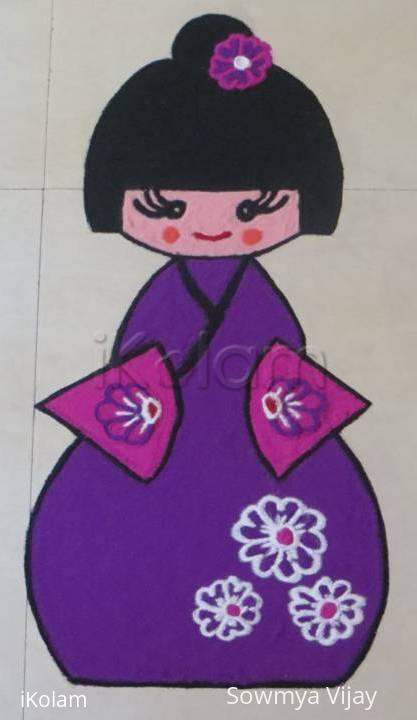 Rangoli: Happy Doll festival- Hinamatsuri