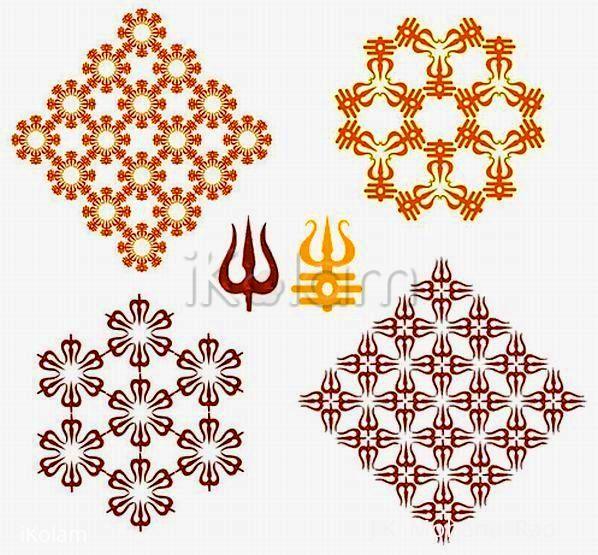 Rangoli: mahASivarAtri special - A collage of tridents