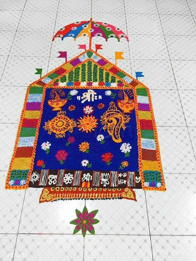 Rangoli: Vaikunta Ekadhashi rangoli