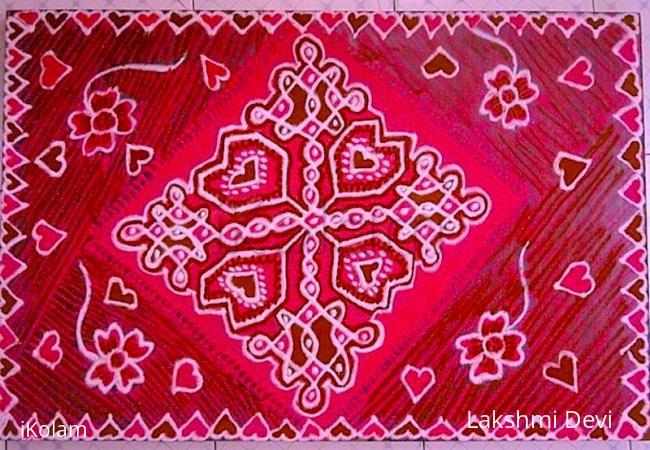 Rangoli:  Happy valentine's Day