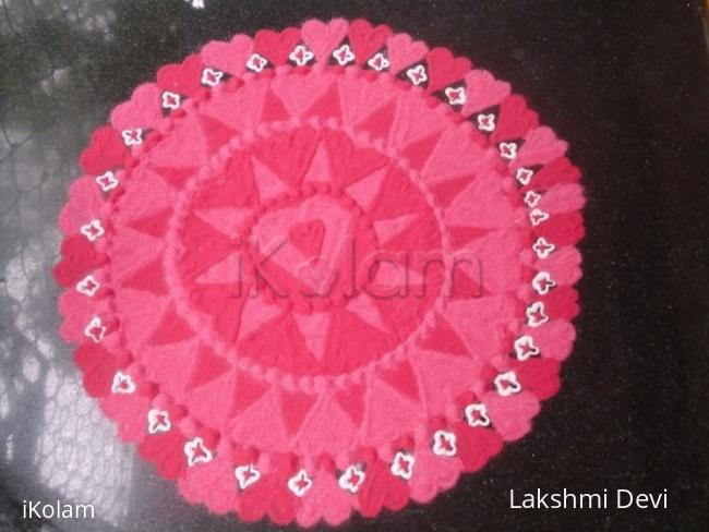 Rangoli: Happy valentine's Day