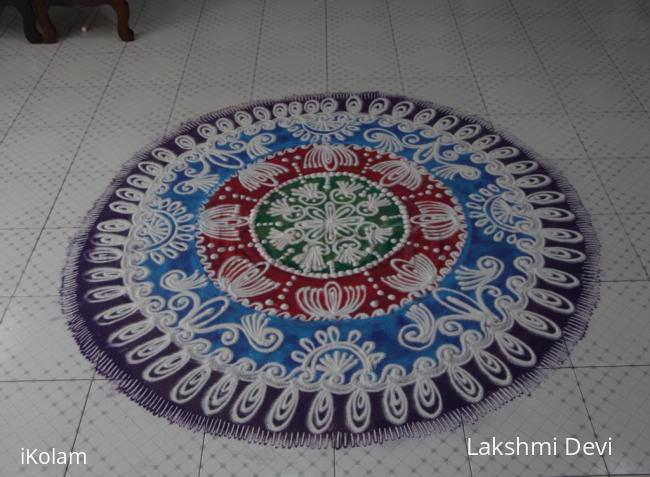 Rangoli: Happy Lohri (festival of Punjab)