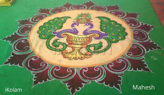 Rangoli: modern peacock