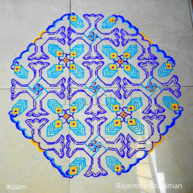 Rangoli: Funnel design kolam
