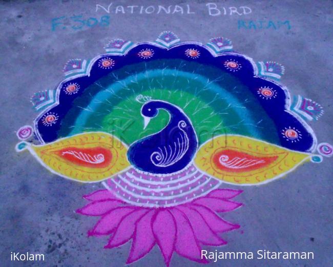 Rangoli: Proud Peacock